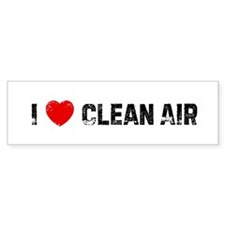 I * Clean Air Bumper Bumper Sticker