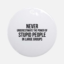 Stupid People In Large Groups Ornament (Round)