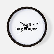 Pull My Finger Wall Clock