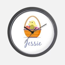 Easter Basket Jessie Wall Clock