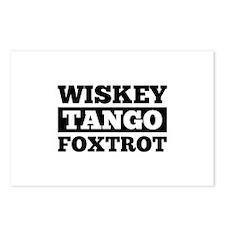 Wwwiskey Tango Foxtrot Postcards (Package of 8)