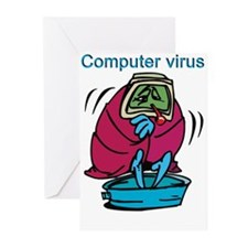 COMPUTER VIRUS Greeting Cards (Pk of 10)