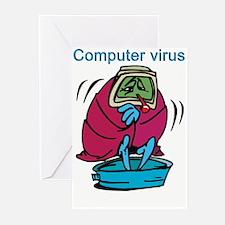 COMPUTER VIRUS Greeting Cards (Pk of 10)