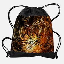 Fox Tails Abstract Drawstring Bag