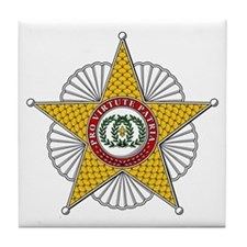 Two Sicilies Star (Italy Tile Coaster