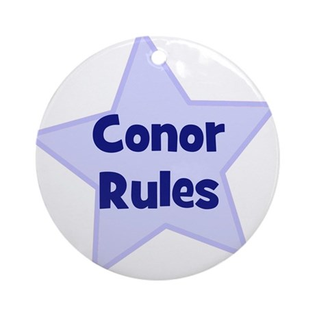 Conor Rules Ornament (Round)