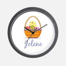 Easter Basket Jolene Wall Clock