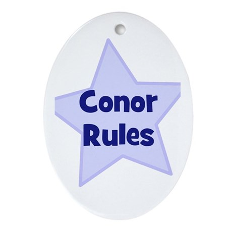 Conor Rules Oval Ornament