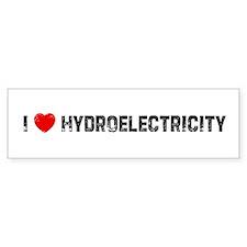 I * Hydroelectricity Bumper Bumper Sticker