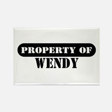 Property of Wendy Rectangle Magnet