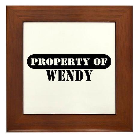 Property of Wendy Framed Tile