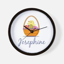 Easter Basket Josephine Wall Clock
