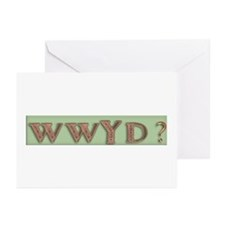 WWJD? and variations Greeting Cards (Pk of 10)