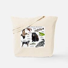 Louisiana State Animals Tote Bag