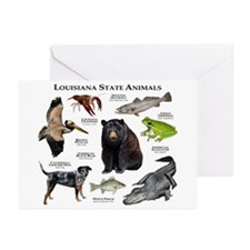 Louisiana State Animals Greeting Cards (Pk of 10)