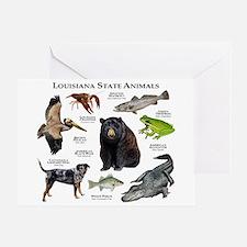 Louisiana State Animals Greeting Card