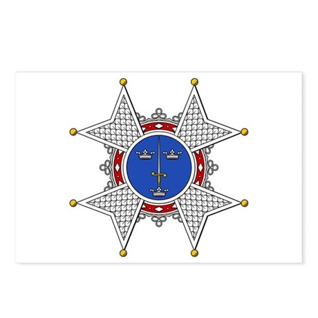 Royal Swedish Order of the Sw Postcards (Package o