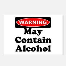 May Contain Alcohol Warning Postcards (Package of