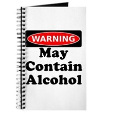May Contain Alcohol Warning Journal
