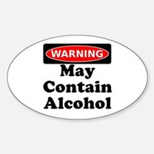 May Contain Alcohol Warning Decal