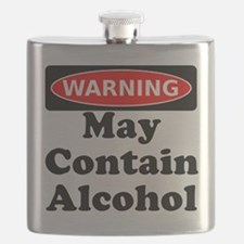 May Contain Alcohol Warning Flask
