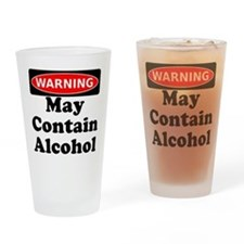 May Contain Alcohol Warning Drinking Glass