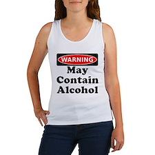 May Contain Alcohol Warning Tank Top