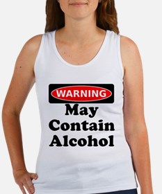 May Contain Alcohol Warning Tank Top