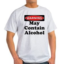 May Contain Alcohol Warning T-Shirt