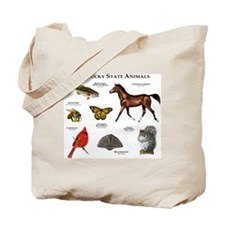 Kentucky State Animals Tote Bag