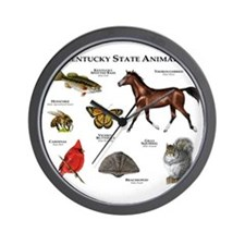 Kentucky State Animals Wall Clock