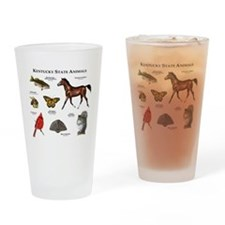 Kentucky State Animals Drinking Glass