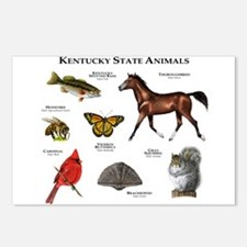 Kentucky State Animals Postcards (Package of 8)