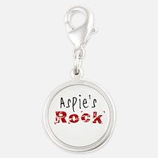 Aspie's Rock Silver Round Charm