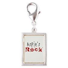 Aspie's Rock Silver Portrait Charm