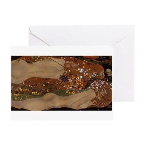 Water Serpents Greeting Cards (Pk of 10)