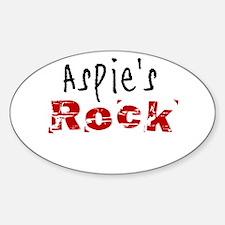 Aspie's Rock Decal