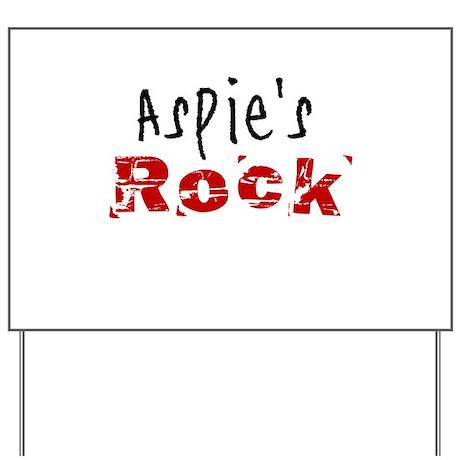 Aspie's Rock Yard Sign
