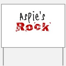 Aspie's Rock Yard Sign