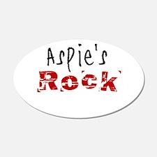 Aspie's Rock Wall Decal