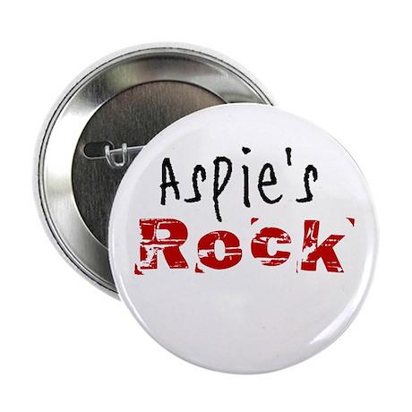 "Aspie's Rock 2.25"" Button (100 pack)"