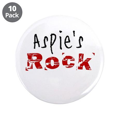 "Aspie's Rock 3.5"" Button (10 pack)"