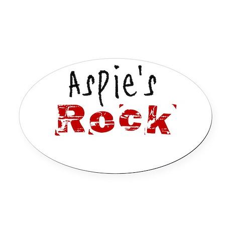 Aspie's Rock Oval Car Magnet