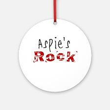 Aspie's Rock Ornament (Round)