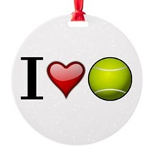 I heart tennis Ornament
