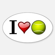 I heart tennis Decal