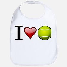 I heart tennis Bib