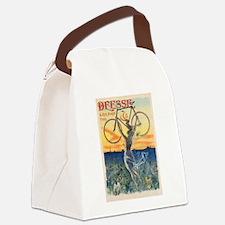 Paris Bike Canvas Lunch Bag