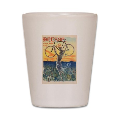 Paris Bike Shot Glass