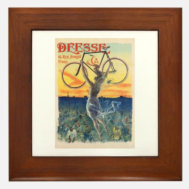 Paris Bike Framed Tile
